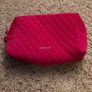 Vera Bradley Large Cosmetic Case - Pink Quilted